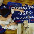 义乌附近工厂生产特朗普旗帜
