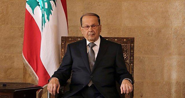 图/黎巴嫩总统奥恩(Michel Aoun)