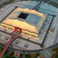 航拍相片可以看到阿尔贝特体育场几乎完工
