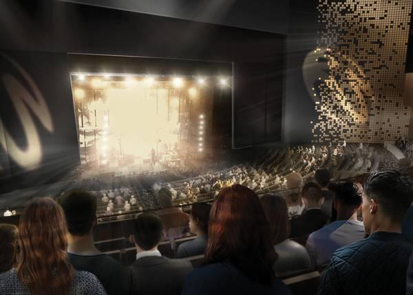 AEG贴出拉斯维加斯名胜世界剧院的渲染图