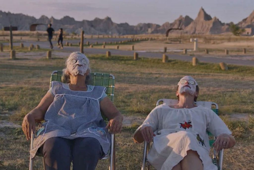 The film Nomadland is about a woman who leaves her hometown to be houseless and travel around the US