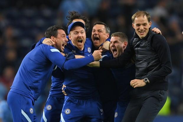 切尔西赢得欧冠冠军教练团欢欣鼓舞澳门, 中国体彩, 欧冠, 欧洲杯, 切尔西,