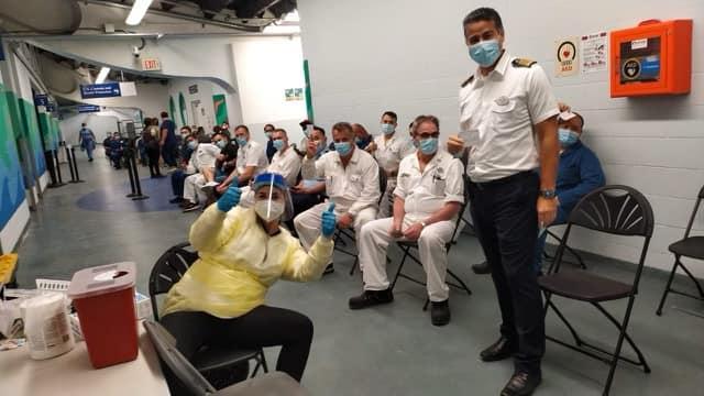 皇家加勒比邮轮船员陆续施打疫苗疫情, 美国, 疫苗, 邮轮, 皇家加勒比,