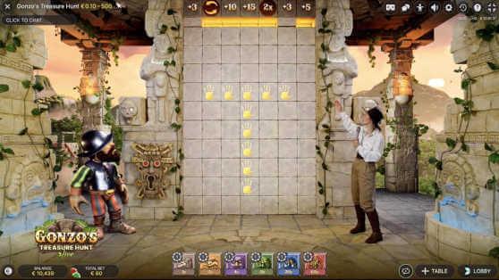《冈佐的寻宝之旅》游戏画面evolution, NetEnt, 冈佐的寻宝之旅, 真人娱乐场, 返还率